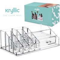 Clear Makeup Organizer Acrylic Drawer Make Up Storage Lipstick Vanity Cosmetic Organizer Countertop by Kryllic