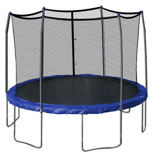 Skywalker 12' Round Trampoline & Safety Enclosure Combo, Blue