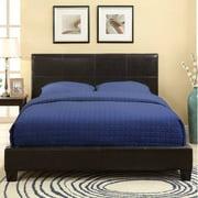 Modus Furniture Upholstered Platform Bed in Chocolate-King