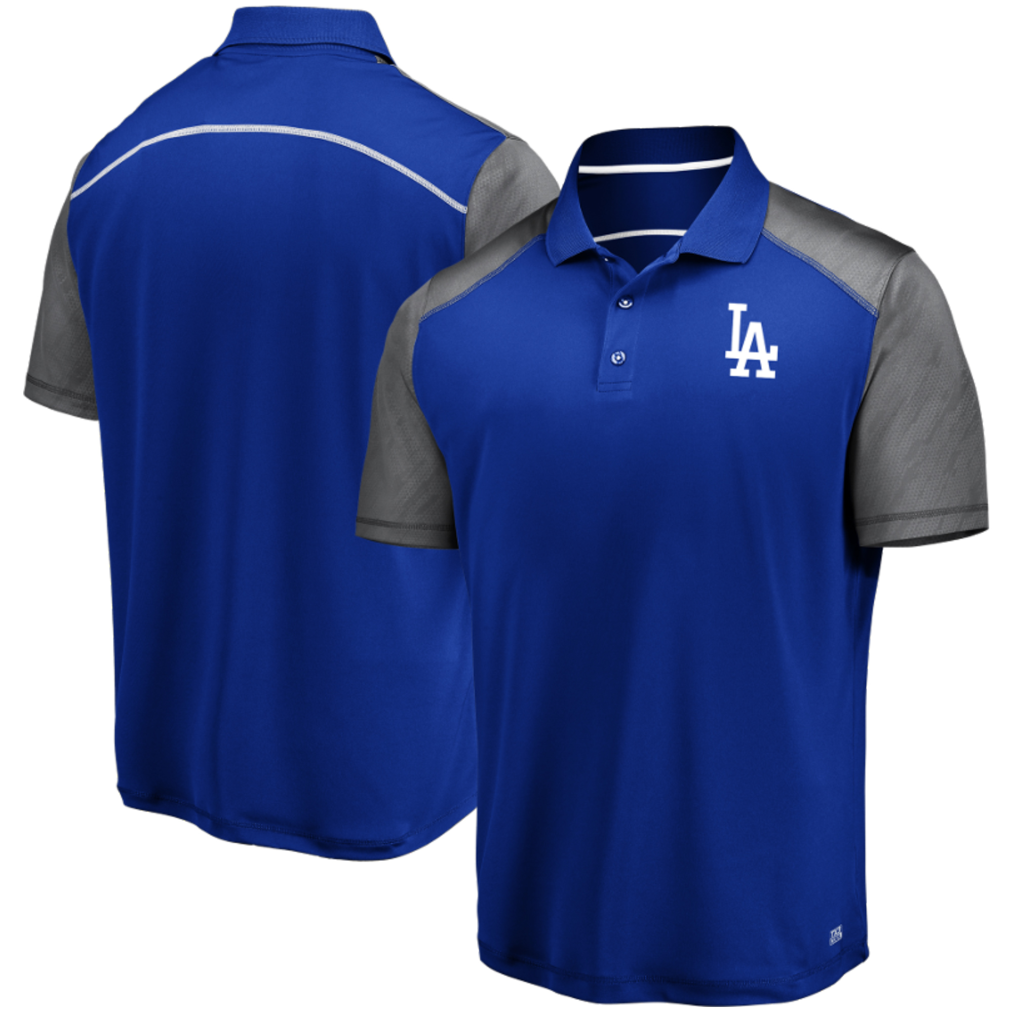 Men's Majestic Royal/Gray Los Angeles Dodgers TX3 Cool Polo