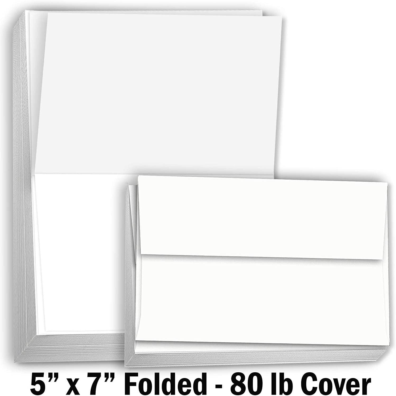 blank envelopes included Custom PRINTED INVITATIONS 10 Laser Printed 5X7 Invitations Set of 10