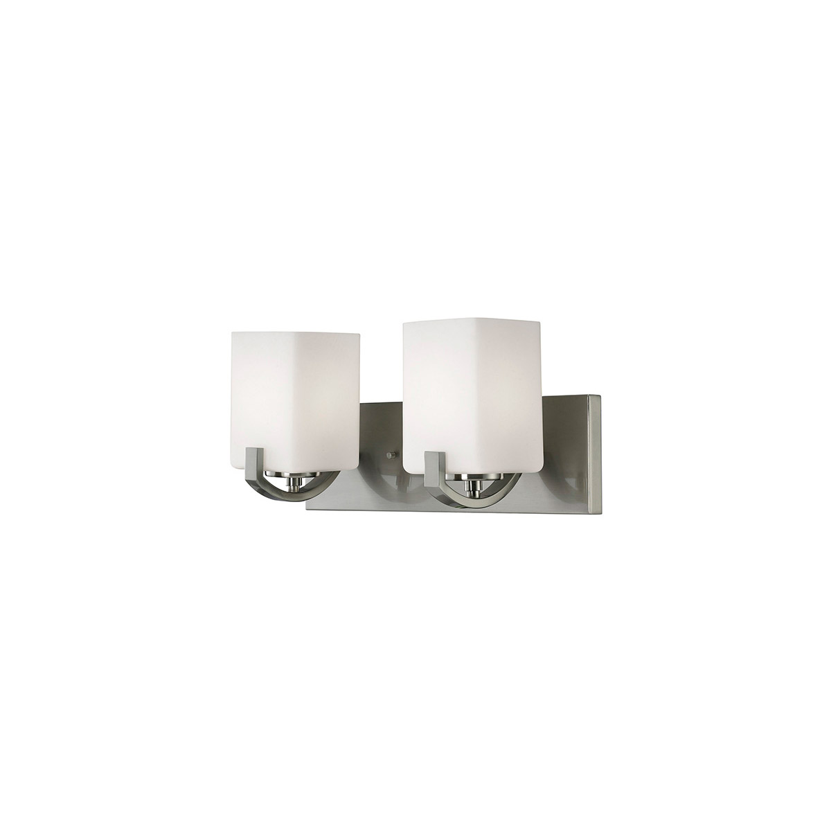 Bathroom vanity 2 light fixtures with brushed nickel finish a bulb 16 200 watts