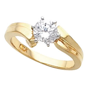 Round Diamond Solitaire Engagement Ring 14k Yellow Gold 1.31 Ct, (K Color, SI1 Clarity)