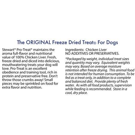 Stewart Freeze Dried Chicken Liver By Pro Treat 15 Oz Tub