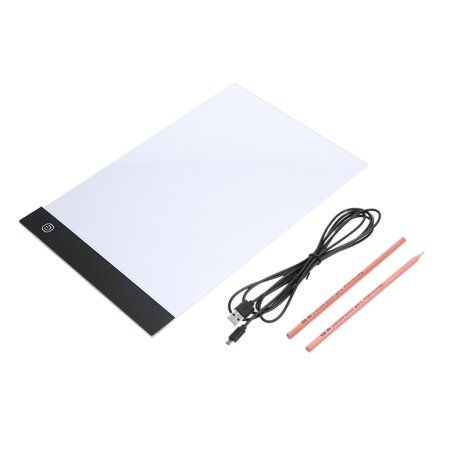 A4 LED Art Light Pad Tracing Drawing Table Board for Kids Artists& One Black Draw Pad Holder - image 5 de 7