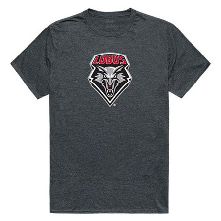 W Republic Apparel 519-182-E9C-01 University of New Mexico Cinder Tee for Men, Heather Charcoal - Small