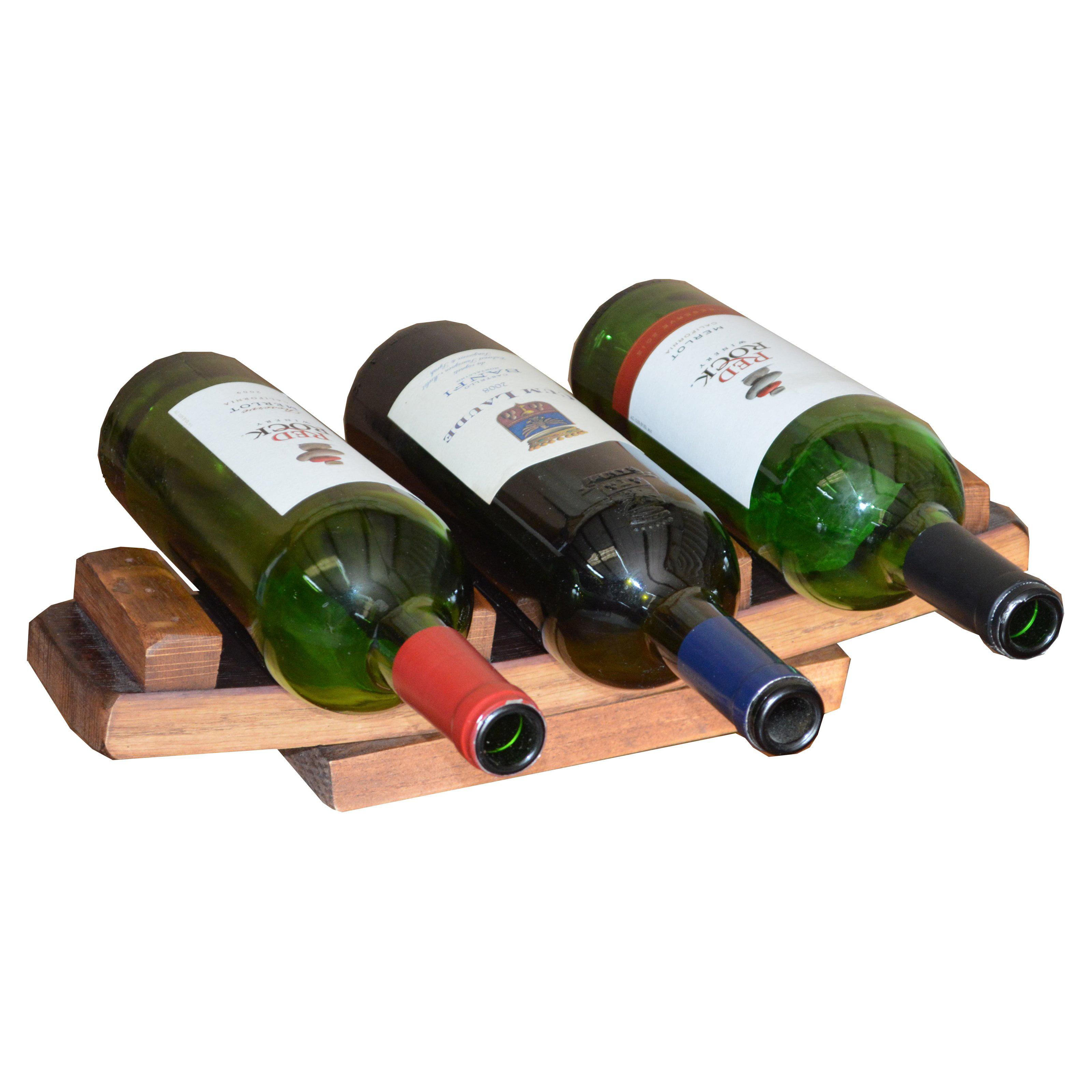 2 Day Designs 3 Bottle Stave Holder Wine Storage