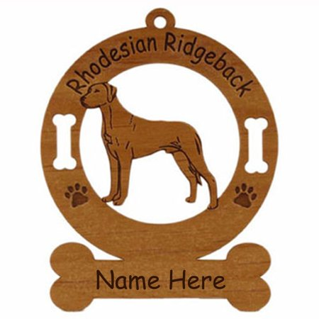 Rhodesian Ridgeback Standing #1 Dog Ornament Personalized with Your Dog's Name