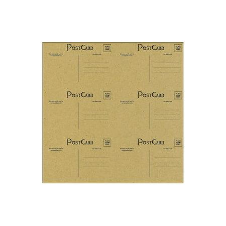 Canvas Corp Paper 12x12 Black Kraft Postcards (15 sheets) (Postal Basics)