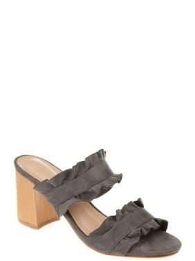 85b258aac920 Womens Ruffled Mule Sandal