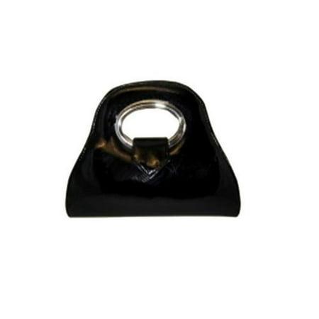 Aryana ViviBk Handbag With Top Flap With Magnetic Snap Closure, Black - Magnetic Snap Top Flap