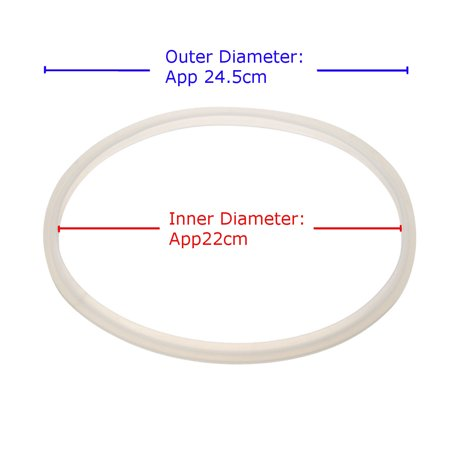 22cm Replacement Silicone Rubber Gasket Sealing Ring Home Pressure Cooker - image 2 of 3