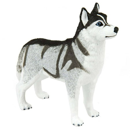safari ltd. siberian husky xl - realistic hand painted toy figurine model - quality construction from phthalate, lead and bpa free materials - for ages 3 and up