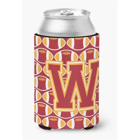 Letter W Football Cardinal & Gold Can or Bottle Hugger - image 1 de 1