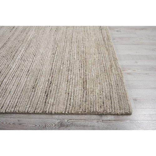Gracie Oaks Carter Hand Knotted Sand Area Rug