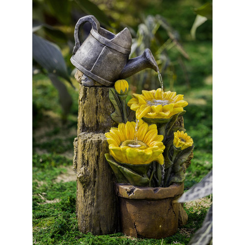 Sunflower And Water Can Fountain Walmart Com