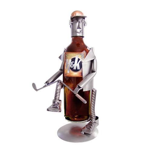 H & K SCULPTURES Golf Frustration Caddy 1 Bottle Tabletop...