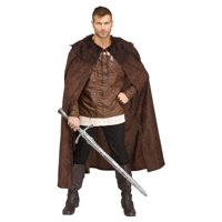 Barbarian Mens Adult Brown Game Of Thrones Costume Cape-STD