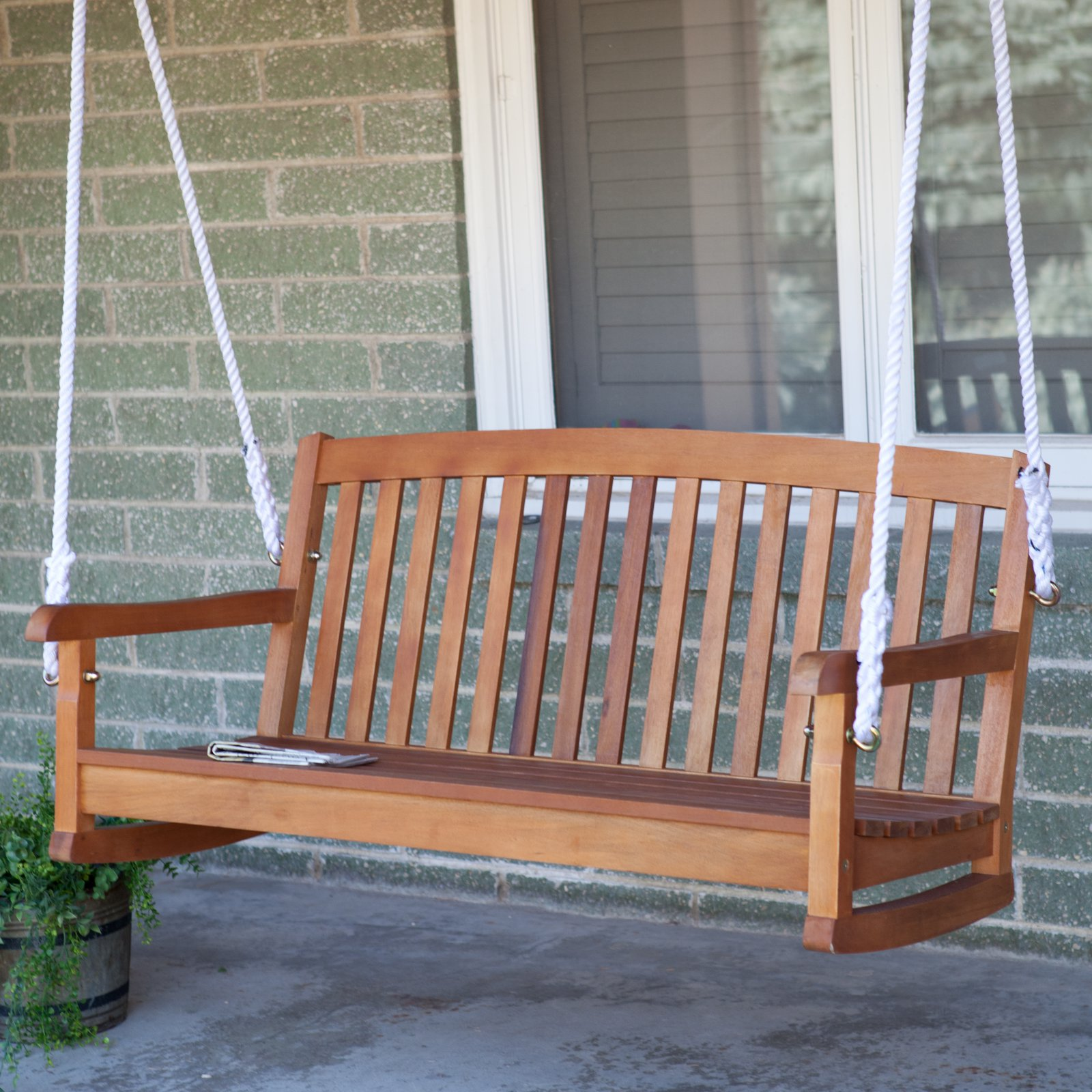 International Caravan Royal Tahiti Porch Swing with Curved Back