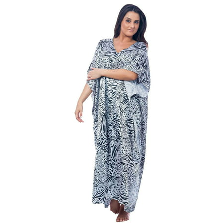 - Up2date Fashion's Women's Caftan / Kaftan, Classic Animal Print
