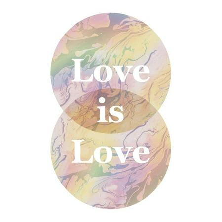 love is love venn diagram poster 13x19