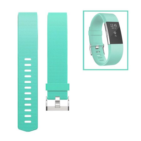 For Fitbit Charge 2 Band, TSV Classic Soft TPU Adjustable Replacement Bands Fitness Sport Strap for Fitbit Charge 2, Small Large