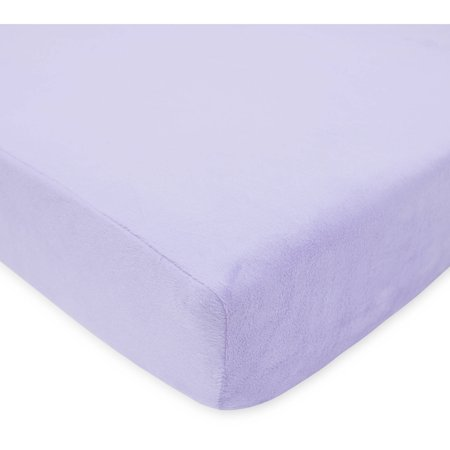 TL Care Heavenly Soft Chenille Crib Sheet, Lavender