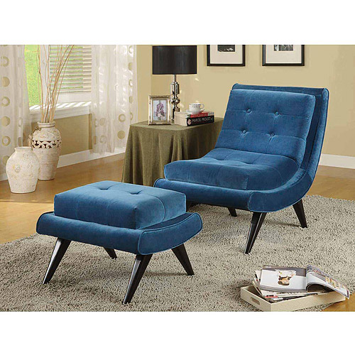 5th Avenue Armless Swayback Lounge Chair, Multiple Colors by Generic