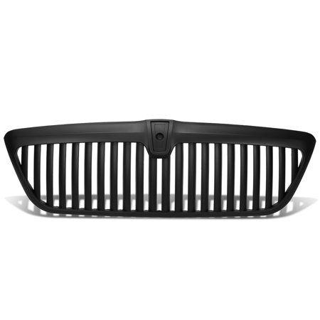 For 1998 to 2002 Lincoln Navigator ABS Plastic Vertical Style Front Grille (Black) - 1st Gen UN173 99 00 01 2002 Lincoln Black Wood
