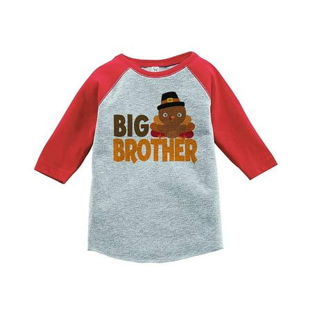 Custom Party Shop Baby Boy's Big Brother Thanksgiving Red Raglan - XL (18-20) T-shirt - Buy Custom