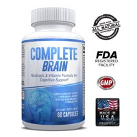 CompleteBrain Nootropics - Achieve Mental Dominance - Improves Memory, Mood, Focus, Clarity and Creativity - Month Supply