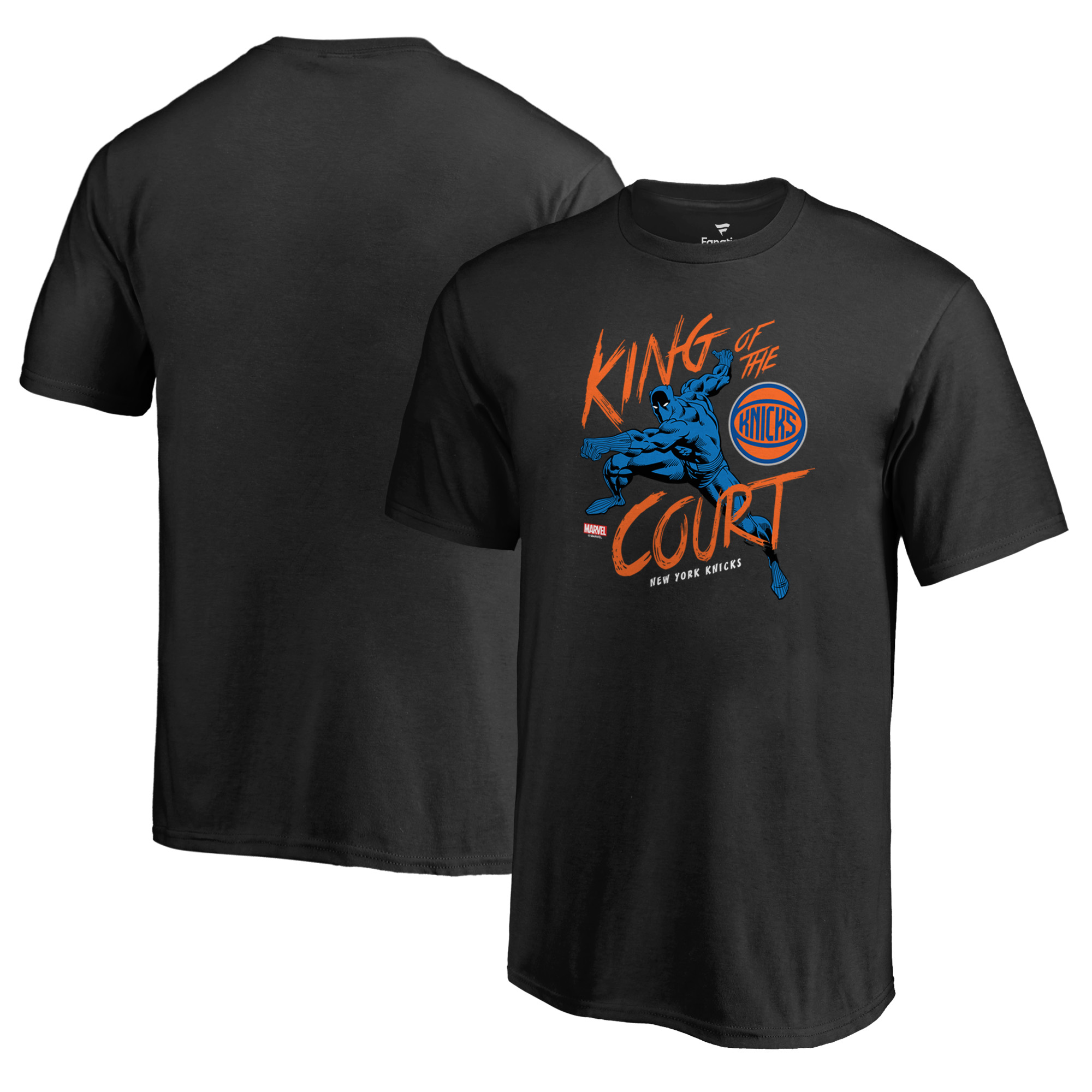 New York Knicks Fanatics Branded Youth Marvel Black Panther King of the Court T-Shirt - Black