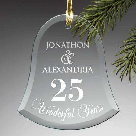 Personalized Glass Christmas Ornament - Happy Anniversary](50th Anniversary Ornament)