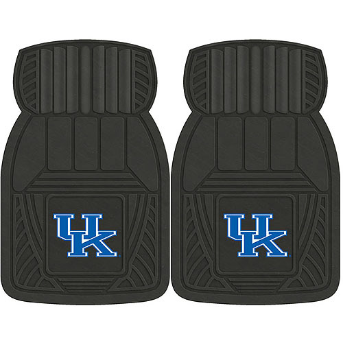 NCAA 2-Piece Heavy-Duty Vinyl Car Mat Set, University of Kentucky