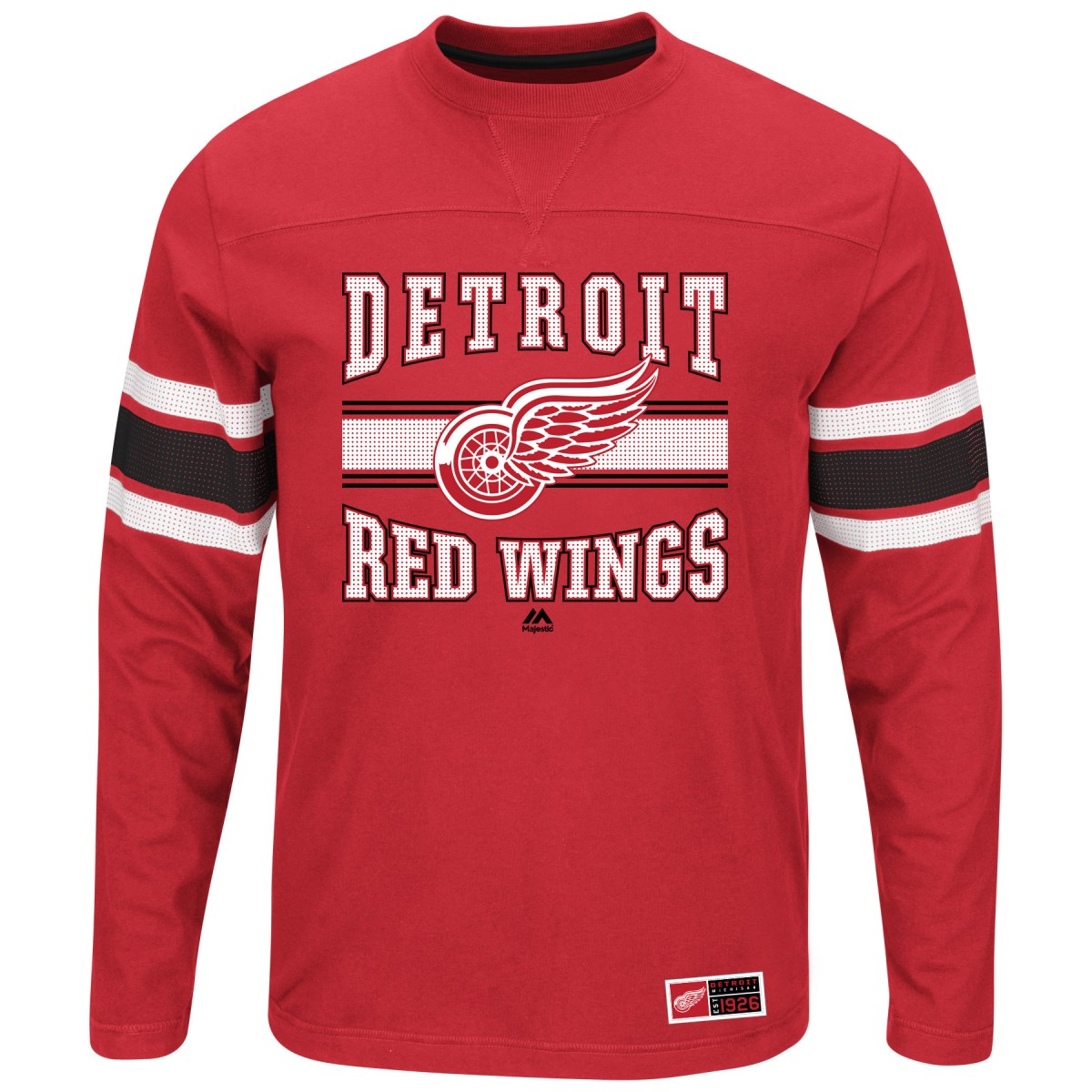 "Detroit Red Wings Majestic NHL ""Forecheck"" Men's Long Sleeve T-Shirt"