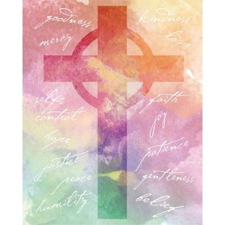 Watercolor Cross Words 2 Poster Print by Melody Hogan