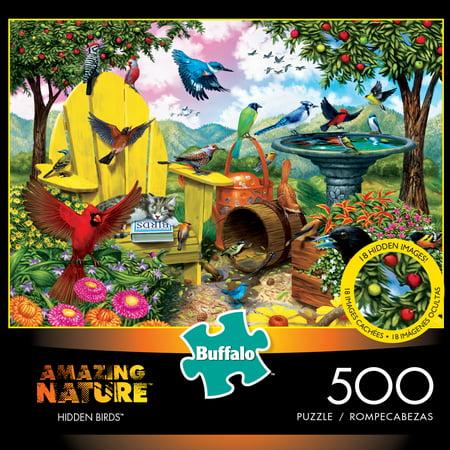 (Buffalo Games Amazing Nature Hidden Birds 500 Piece Jigsaw Puzzle)