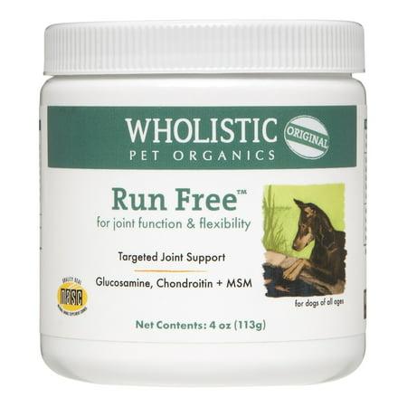 Wholistic Pet Organics Run Free Dog Supplement  Oz