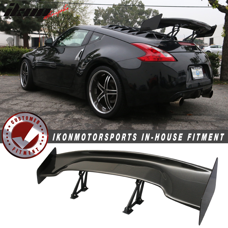 "Fits 09-19 Nissan 370Z 57"" Wide Carbon Fiber Trunk Spoiler Wing"