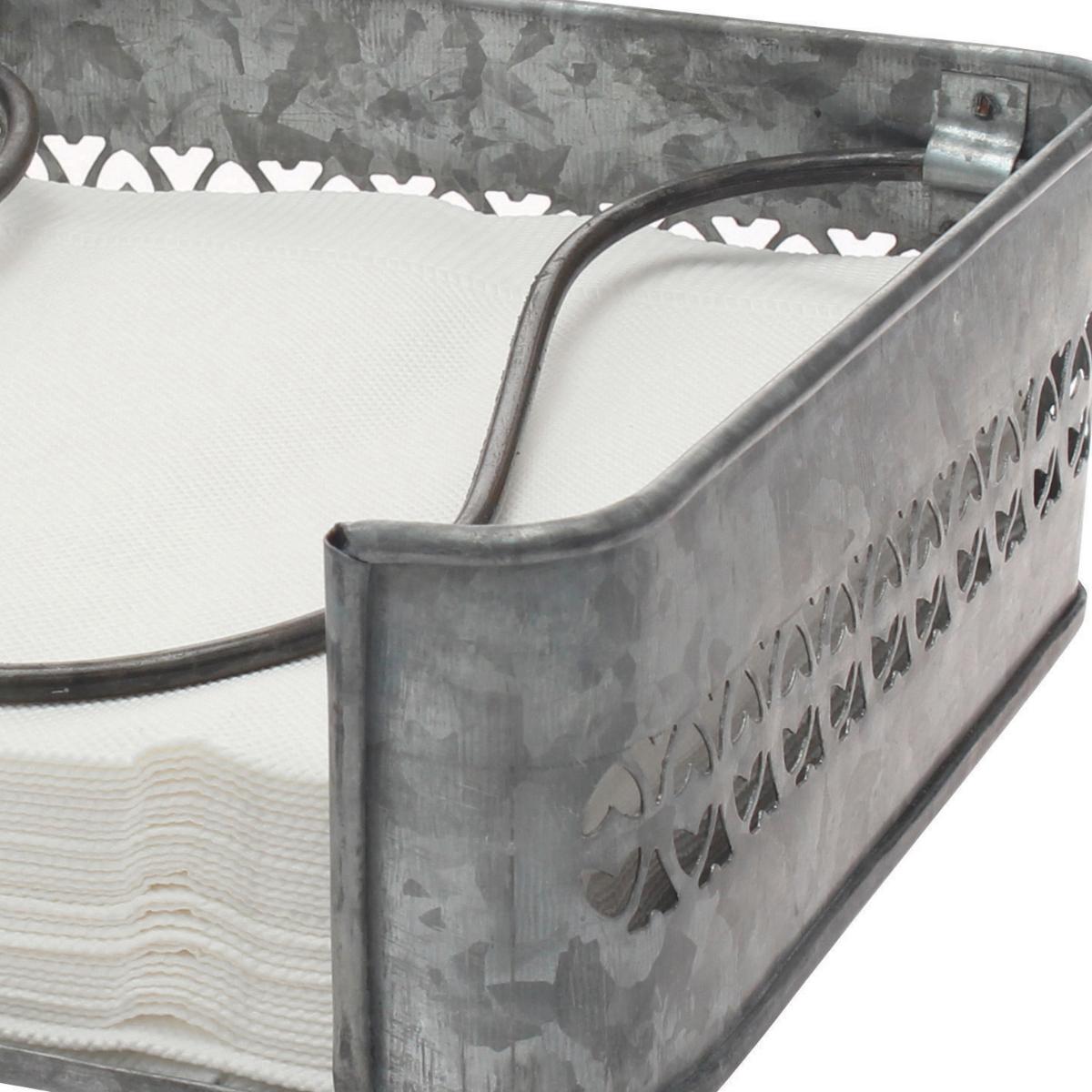 Stonebriar Collection Aged Galvanized Metal Napkin Holder Walmart Com Walmart Com