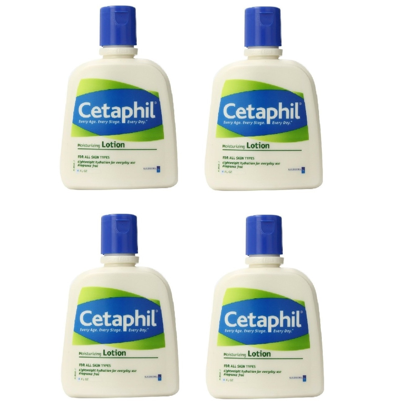 Cetaphil Fragrance Free Moisturizing Lotion, 4 Oz (Pack of 4)