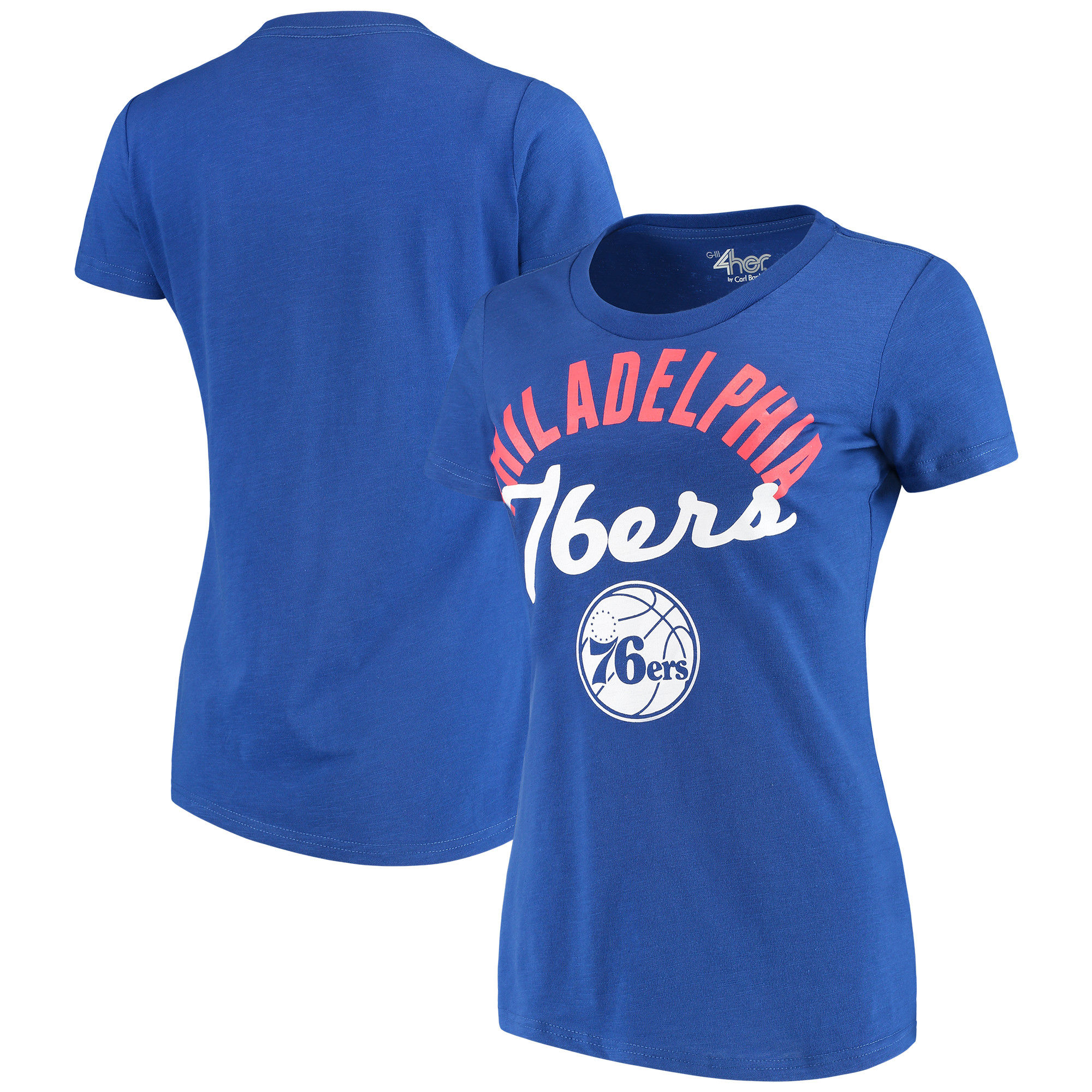 Philadelphia 76ers G-III 4Her by Carl Banks Women's Tailgate T-Shirt - Royal