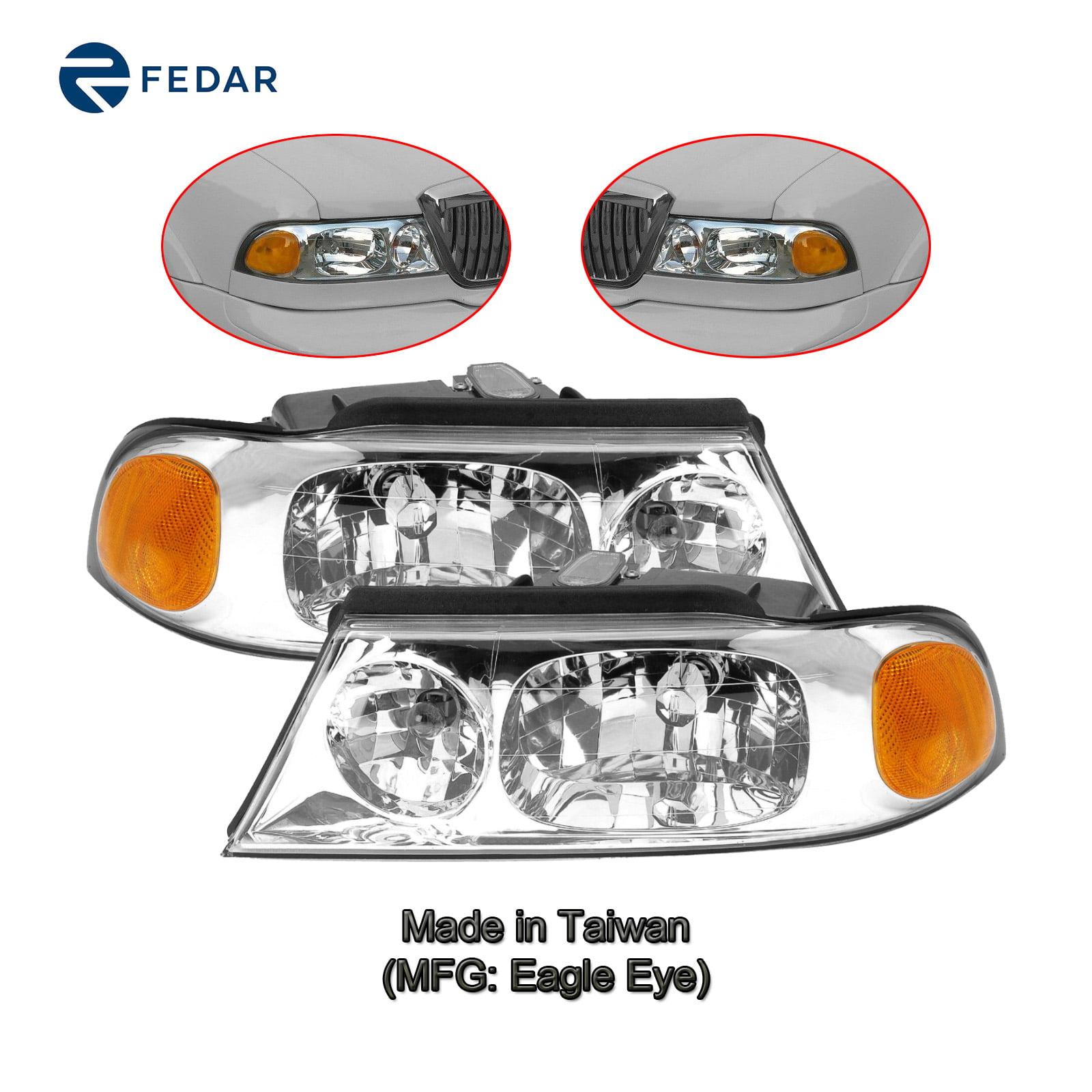 Headlight Lamp Compatible With 1998 1999 2000 2001 2002 Lincoln Navigator  02 Blackwood Pair Set