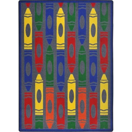 Playful Patterns Jumbo Crayons Rectangle Childrens Area Rugs, 07 Rainbow - 3 ft. 10 in. x 5 ft. 4 (Crayons Rug)