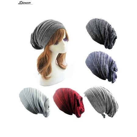 Spencer Oversized Winter Long Beanie Hats Warm Skull Knitted Baggy Caps for Men Women