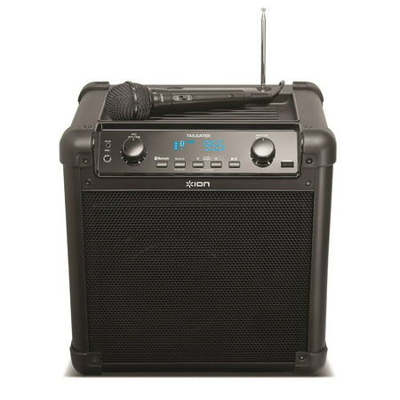 ION Audio Tailgater (iPA77) Portable Bluetooth PA Speaker with Mic, AM/FM Radio and USB Charge Port (Refurbished)