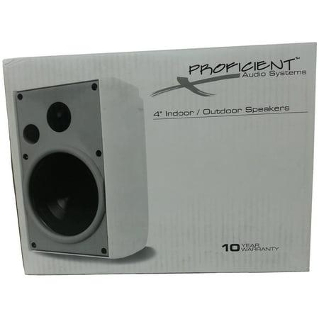 Proficient Audio Systems 4  2 Way Indoor Outdoor Speakers