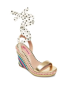 3ff7302e4 Product Image Pink Colvin Ankle-Strap Wedge Espadrilles. Product Variants  Selector. BLACK WHITE. Product TitleBetsey JohnsonPink ...