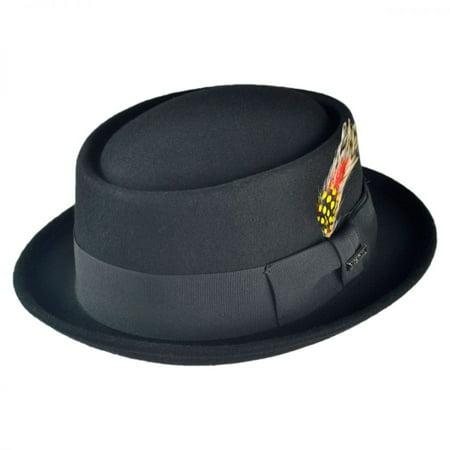 433ca0c0e Wool Felt Pork Pie Hat - XL - Black