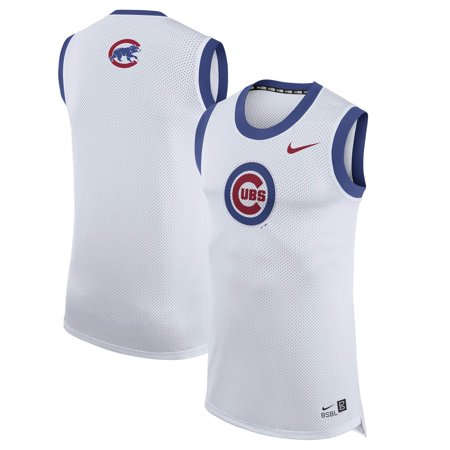 the latest 44e0f 880d0 Chicago Cubs Nike Bro Tank Top - White